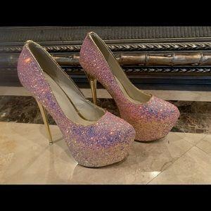 New Glitter Sexy Heels Size 39